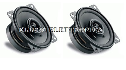 66020 Coppia Casse Coassiali  Auto 2 Vie 100 Mm Woofer Tweeter 10 Cm 60 Watt