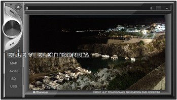 "VM057 Phonocar Autoradio Monitor LED 6,2"" Doppio DIN Lettore DVD Touchscreen Bluetooth Navigatore GPS"