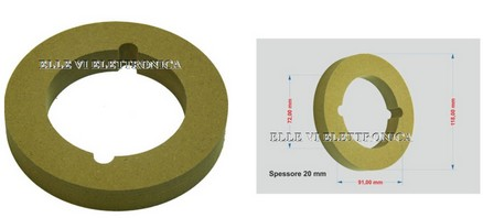 CHP-75000 MDF RING Anello Supporto Per Altoparlante Tweeter Legno MDF 100 Mm