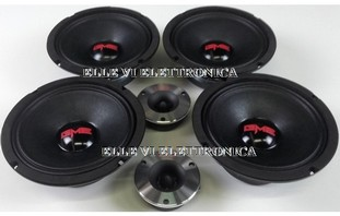 KIT-SL-814-350B GME Kit 4 Mid Woofer 2 Tweeter SPL 500 Watt 250 Watt RMS 4 Ohm 200 Mm Alta Efficienza